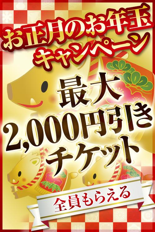 ☆お正月イベント開催!!~お得な割引チケット配布中♪~